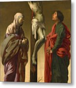 The Crucifixion With The Virgin And Saint John Metal Print