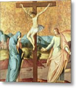 The Crucifixion With The Virgin And St John The Evangelist Metal Print