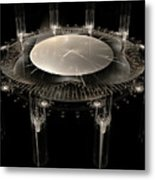 The Crystal Clock Metal Print