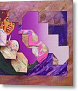 The Cubist Scream Metal Print