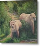 The Cubs Of Katmai Metal Print