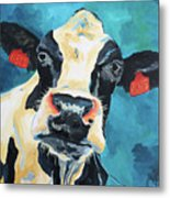 The Curious Cow Metal Print