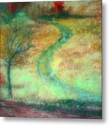 The Curve In The Road Metal Print