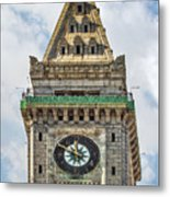 The Customs House Clock Tower Boston Metal Print