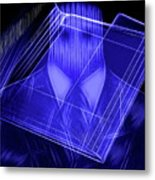 The Cyber Office Metal Print