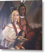 The Cynthia Ann Parker Family Metal Print