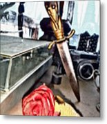 The Dagger And The Rose Metal Print