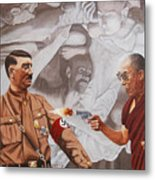 The Dalai Lama Shoots Adolph Hitler Metal Print