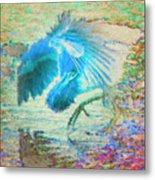The Dance Of The Blue Heron Metal Print