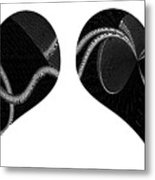 The Dance Of Two Hearts Metal Print