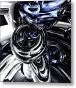 The Darkside Abstract Metal Print
