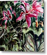 The Day Lilies Metal Print