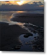 The Days Last Rays At Dunraven Bay Wales Metal Print