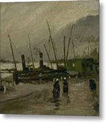 The De Ruijterkade In Amsterdam Amsterdam, October 1885 Vincent Van Gogh 1853  1890 Metal Print