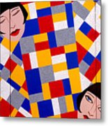 The De Stijl Dolls Metal Print
