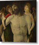 The Dead Christ Supported By Angels Metal Print