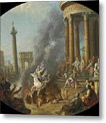 The Death Leap Of Marcus Curtius Metal Print