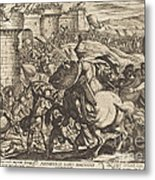 The Death Of Abimelech Metal Print