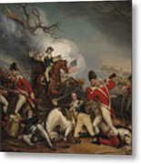 The Death Of General Mercer At The Battle Of Princeton, January 3, 1777  Metal Print