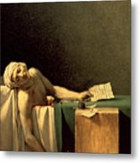 The Death Of Marat Metal Print