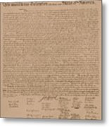 The Declaration Of Independence Metal Print by War Is Hell Store