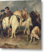 The Deerstalkers Return Metal Print by Sir Edwin Landseer