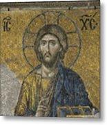 The Dees Mosaic In Hagia Sophia Metal Print