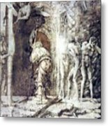 The Descent Into Hell 1468 Metal Print