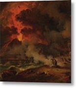 The Destruction Of Pompeii Metal Print