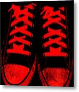 The Devil Wears Converse Metal Print