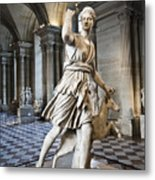 The Diana Of Versailles In The Louvre Metal Print