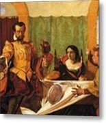 The Dinner Scene From Taming Of The Shrew Metal Print