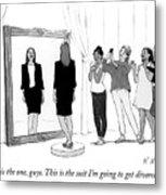 The Divorce Suit Metal Print