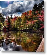 The Dock At The Boathouse Metal Print