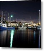 The Docks At Night Metal Print