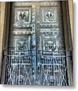 The Door At The Parthenon In Nashville Tennessee Metal Print
