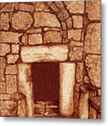 The Door Of Humility At The Church Of The Nativity Bethlehem Metal Print