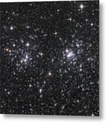 The Double Cluster, Ngc 884 And Ngc 869 Metal Print