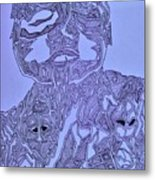 The Dreaming Man Metal Print