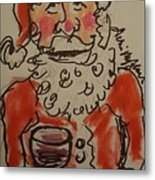 The Drunken Santa Metal Print