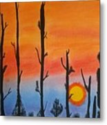 The Dryest Sunset Metal Print