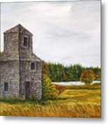 The Drying Barn Metal Print by Norman F Jackson