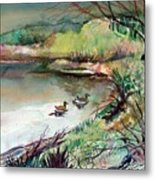 The Duck Pond Metal Print