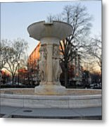 The Dupont Circle Fountain Without Water Metal Print