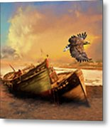 The Eagle And The Boat Metal Print