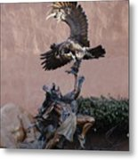 The Eagle And The Indian Metal Print