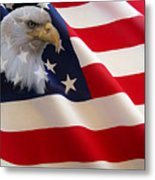 The Eagle Flag Metal Print