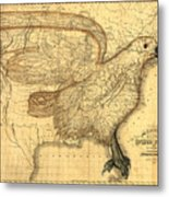 The Eagle Map Of The United States  Metal Print