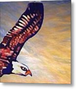The Eagle Or The Great Thunderbird Spirit In The Sky Metal Print