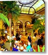 The Easter Holiday Tea At The Palm Court Metal Print